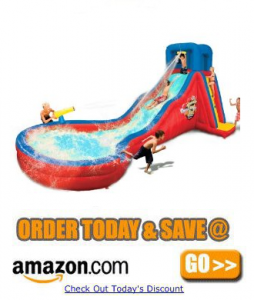 Banzai Double Cannon Blast Slide amazon