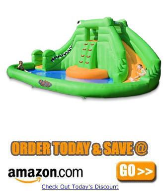 Blast Zone Crocodile Isle Inflatable water Park a