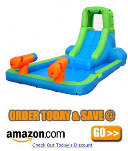 Bounceland Inflatable Water Slide with Dual Guns amazon