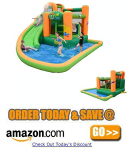 Kidwise Endless Fun 11 in 1 Inflatable Bounce House and Water Slide Combo Unit