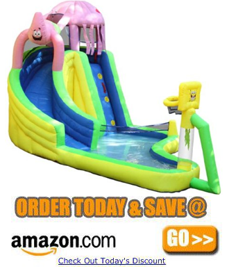 Sportcraft SpongeBob and Friends Waterslide with Sports Center a