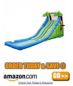 kidwise tropical wave water slide