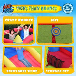 ACTION AIR Bounce House Inflatable Bouncer with Air Blower