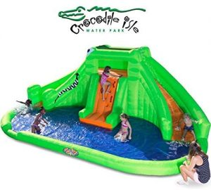 Blast Zone Crocodile Isle Inflatable Water Park 1