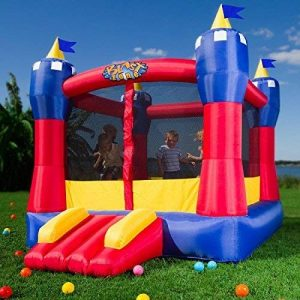 Blast Zone Magic Castle Inflatable Bounce House with Blower