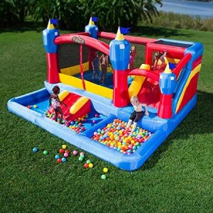Blast Zone Misty Kingdom Inflatable Combo Bounce House