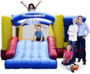 PicassoTiles Foot Inflatable Bouncer Jumping Bouncing House