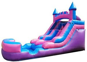 Pogo Bounce House Inflatable Water Slide Crossover Pink Castle