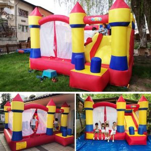 YARD Bounce House with Slide Obstacle Bouncer